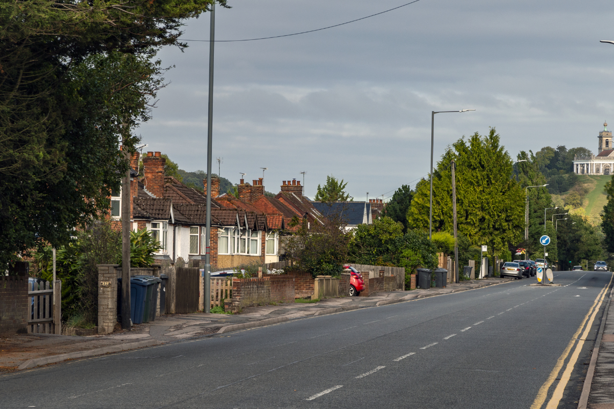 South side of West Wycombe Road looking towards West Wycombe